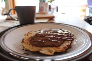 Delicious Gluten free breakfast pan oat cakes with melted Belgian chocolate - coeliac awareness week 2016