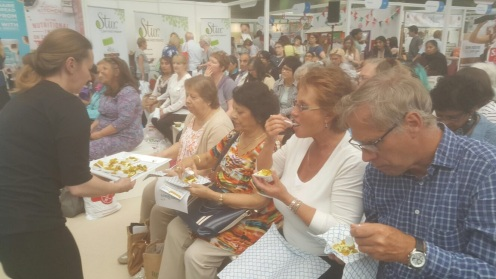 Our Lovely Audience Tasting the Food