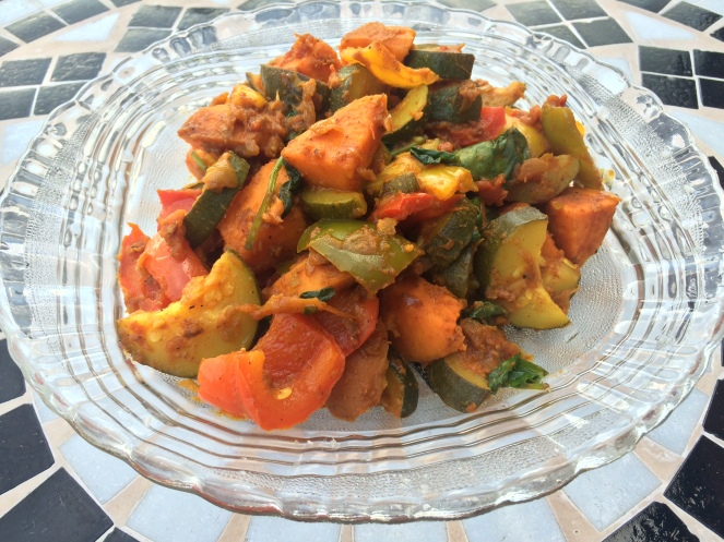 recipe card sweet potato curry with plenty of turmeric