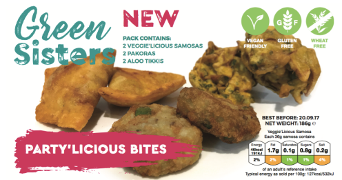 #Party'Licious Bites launched #yum #glutenfree #vegan #vegetarian #freefrom #bestseller