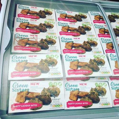 The newly launched Party'licious bites in freezer ready to be snapped up by customers at the Allergy + Free From Show, Kensington